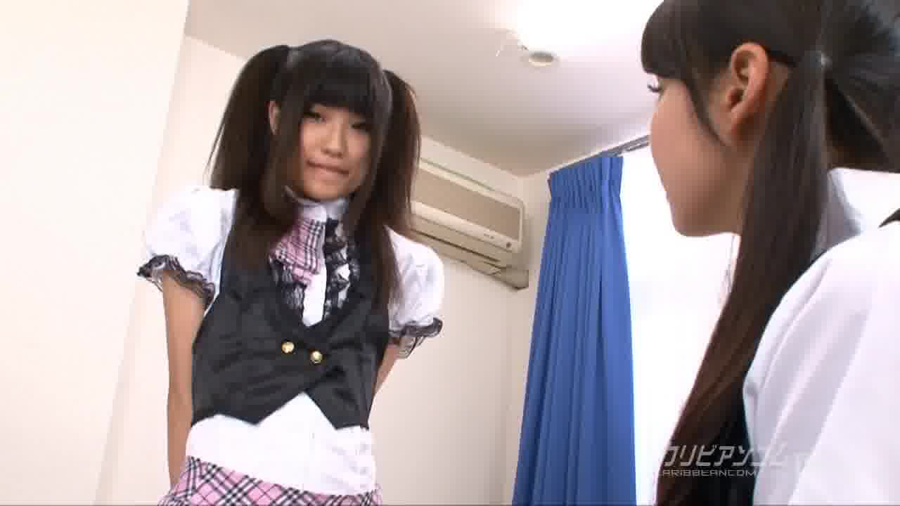 CRB48 GIVE ME バイブ! ~彼女達の控室~ - 小林るな【レズ・パイパン・バイブ】