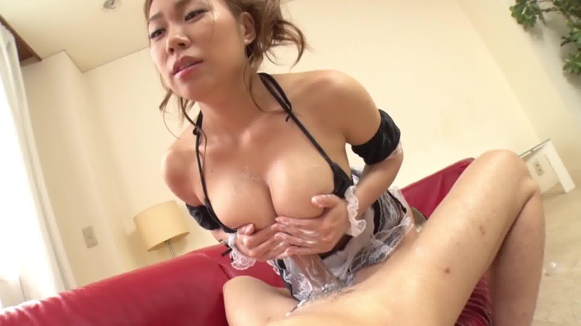 いいなり爆乳メイド ~乳白色の愛液ローション~ - 鈴村いろは【ハメ撮り・コスプレ・中出し】