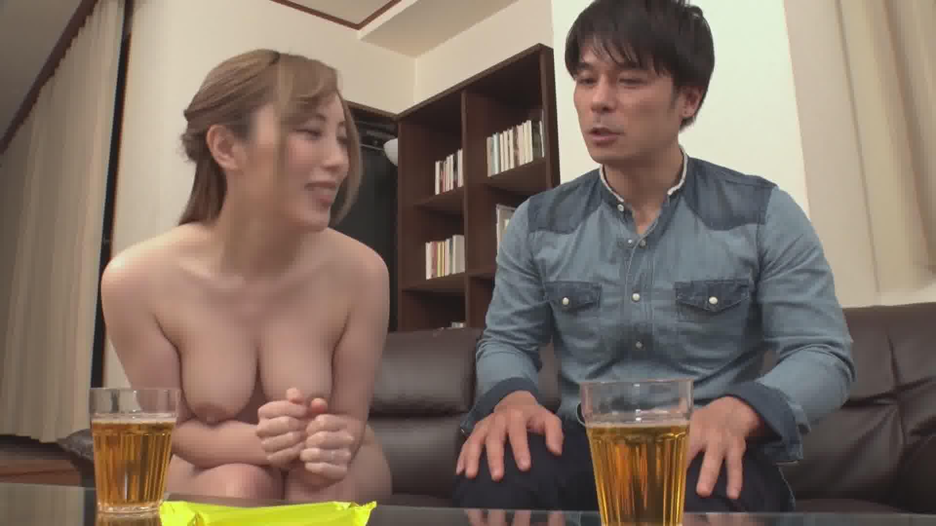 裸で客人を迎え入れる無防備すぎる美人妻 - 櫻木梨乃【巨乳・パイズリ・中出し】