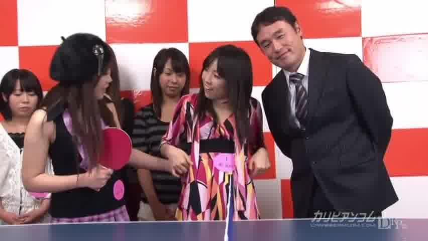 カリビアンTV 第2回 2010年11月6日放送分 脱衣エロ卓球対決! - 米山愛【美乳・ギャル・手コキ】