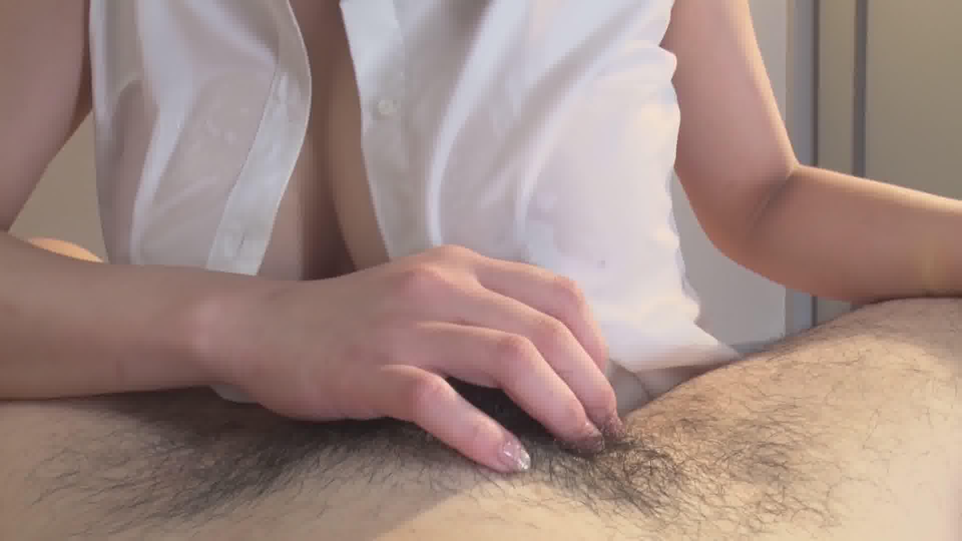 汗だくスケスケHカップ - 真菜果【巨乳・手コキ・中出し】