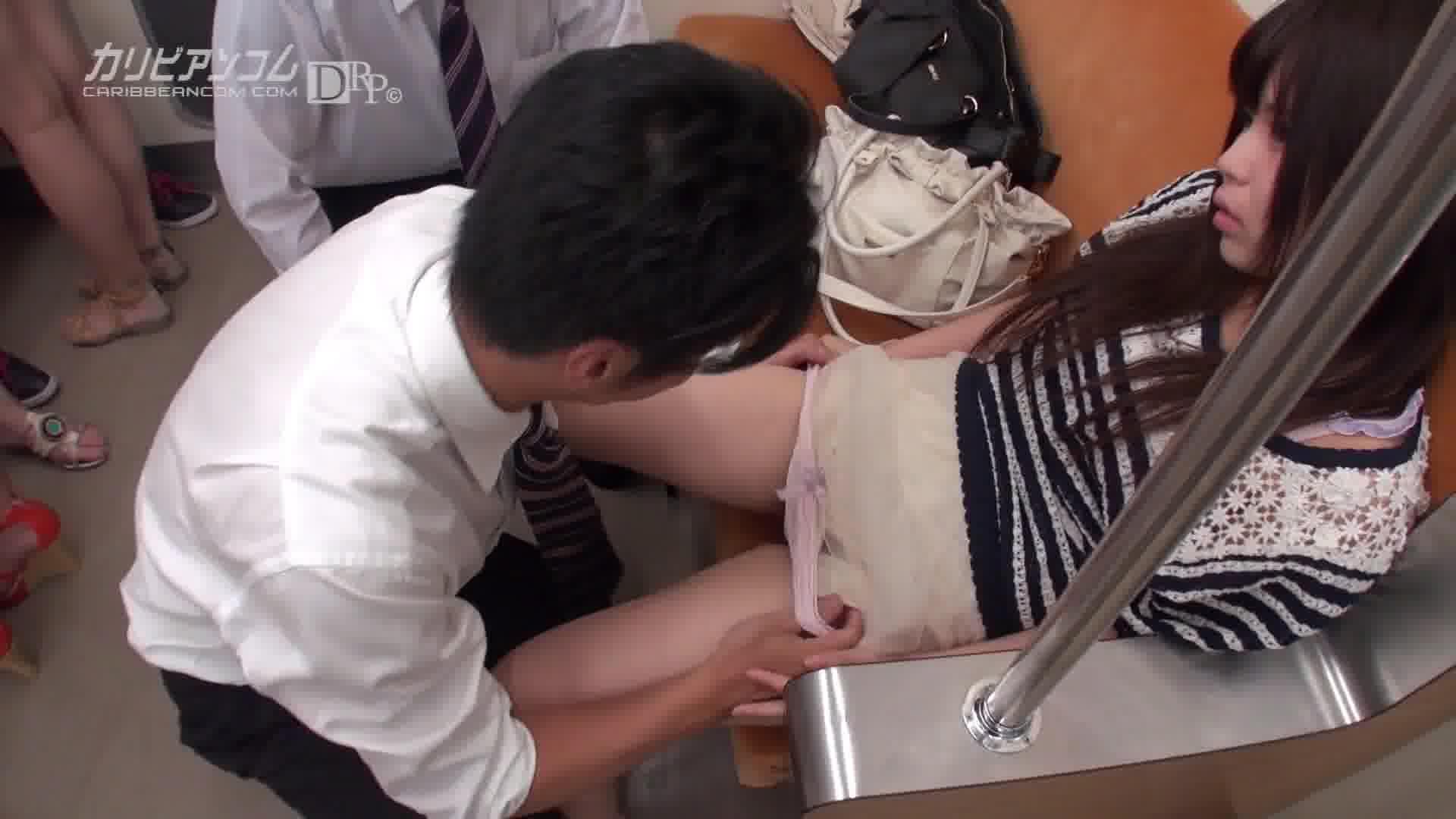 タイムファックバンディット 時間よ止まれ 女性専用車両編 - 紺野渚 【乱交・ギャル・中出し】
