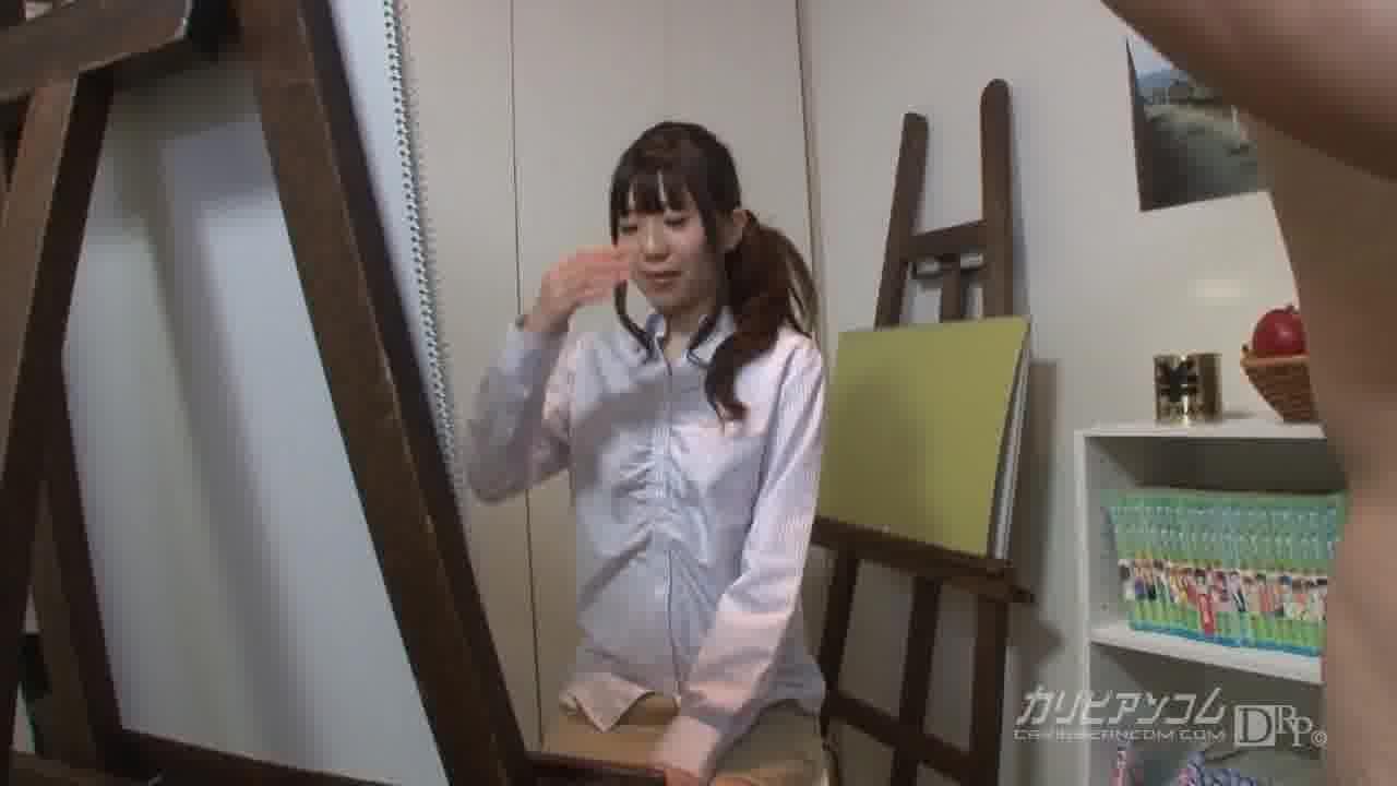 絵画教室の生徒に勃起したチンポを魅せつけたら… - 紗彩さくら【企画物・口内発射・中出し】