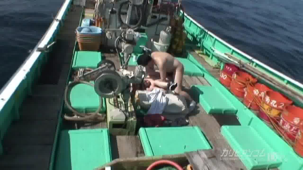 日本の果てまでイってC! 漁船編 前編 - 保坂真緒【蘭子・野外露出・水着】