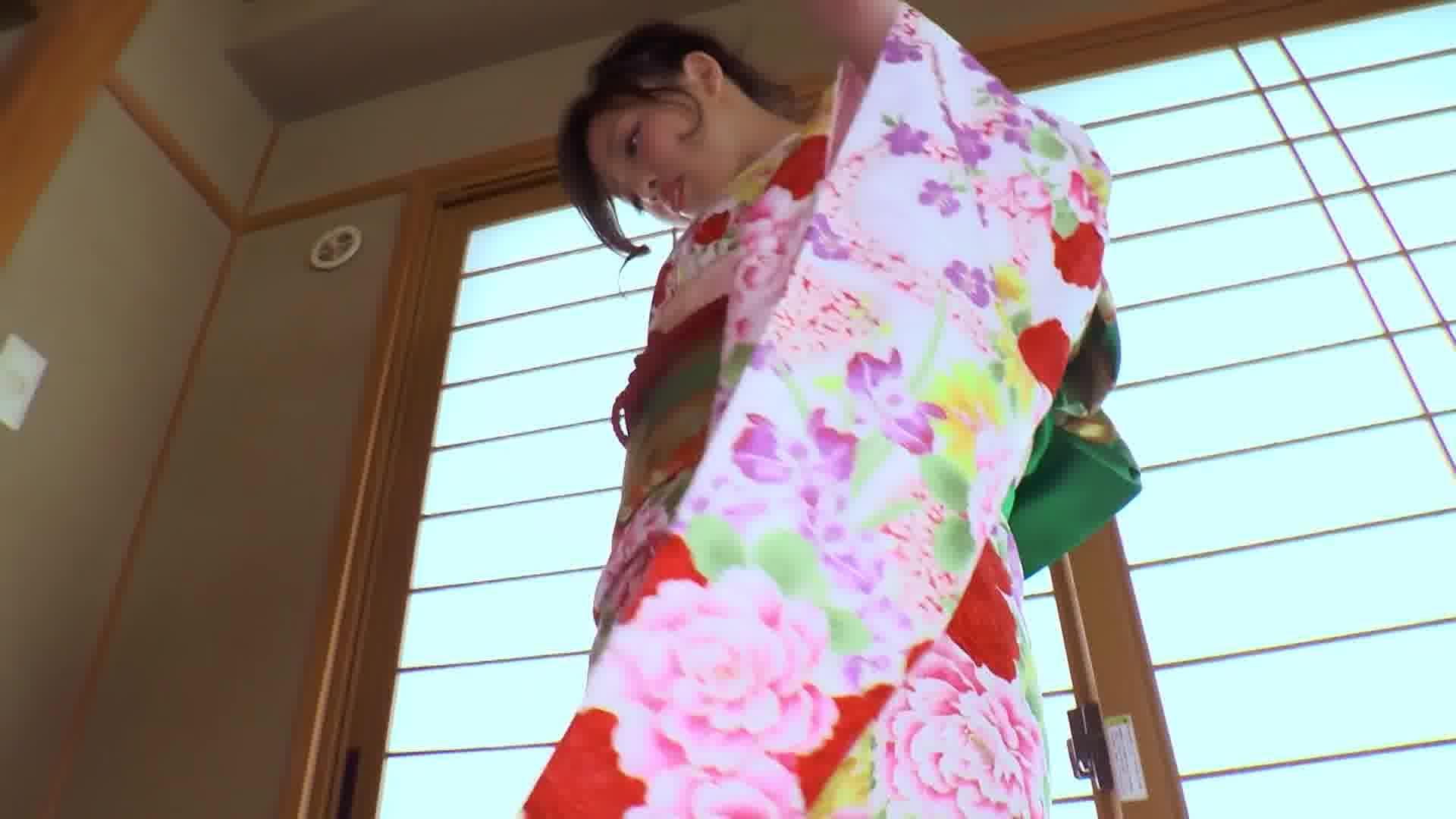ドスケベで可愛いすぎる着物美女 ~丸尻浮遊騎乗位ストロングスタイル~ – 日高千晶【巨乳・着物・顔射】