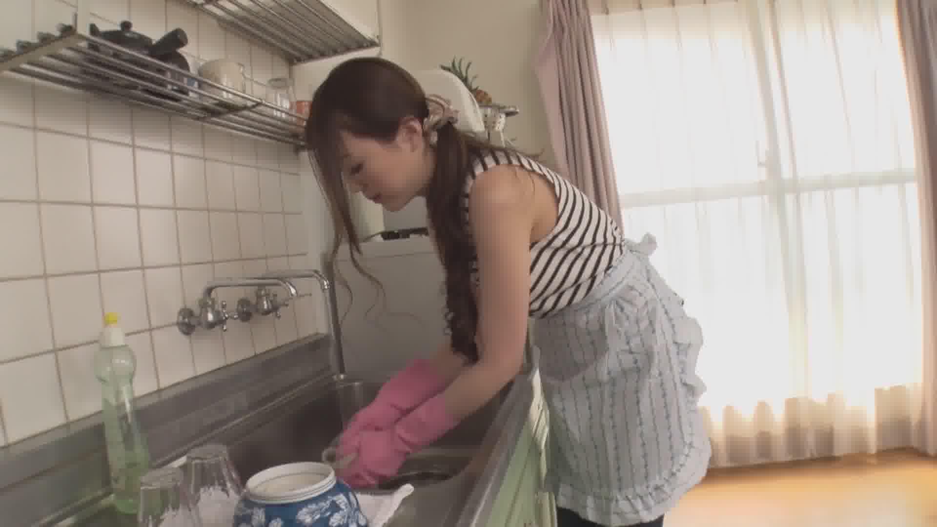 美人家政婦のピタパン ~触っていいなんて言ってないのに…~ - 古瀬玲【パイパン・クンニ・中出し】