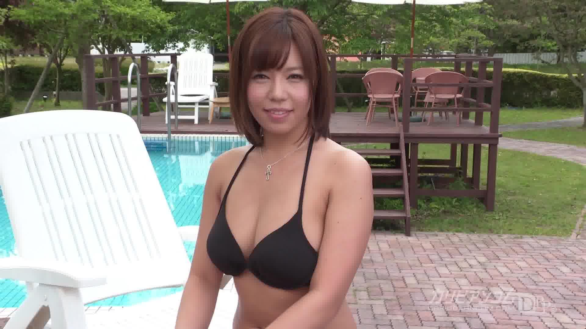 Debut Vol.23 ~マイクロ水着からはみ出すHカップ~ - 西条沙羅【水着・巨乳・青姦】