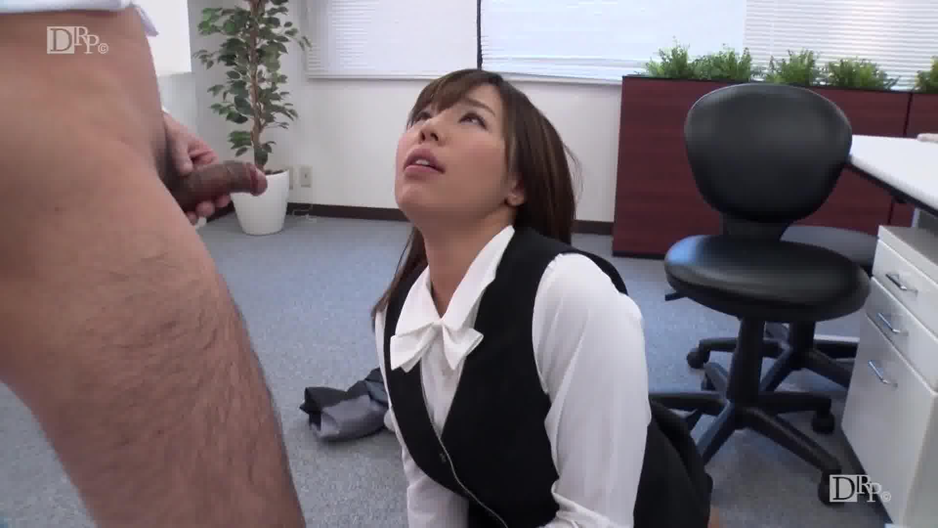 誰もいないオフィスで後ろから突然でした - 西条沙羅【巨乳・イラマチオ・OL】