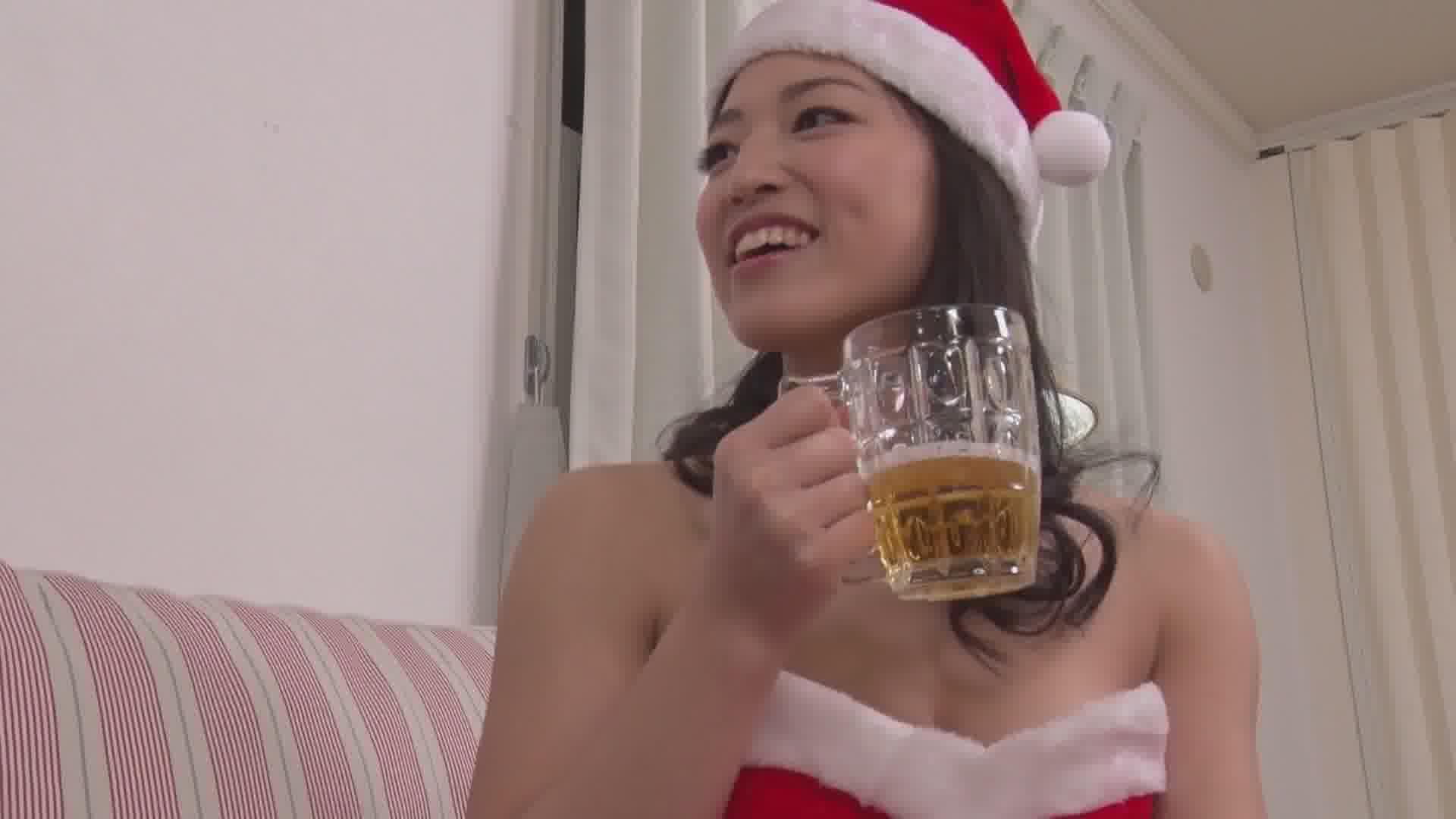 飲み姿エロイイGP ~中出しされて興奮する泥酔サンタ~ - 日高千晶【コスプレ・巨乳・中出し】
