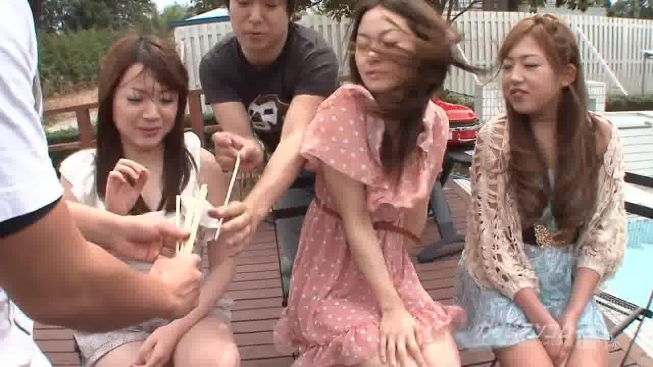 Oh! Summer乱交 ~王様ゲーム編~ - 七瀬あさ美【乱交・野外露出・痴女】