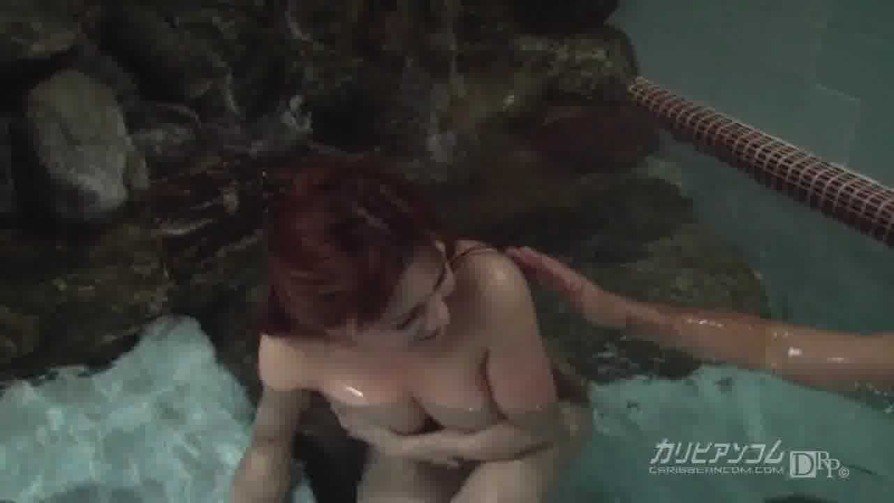 熟女温泉物語 後編 - つかもと友希【巨乳・パイズリ・手コキ】