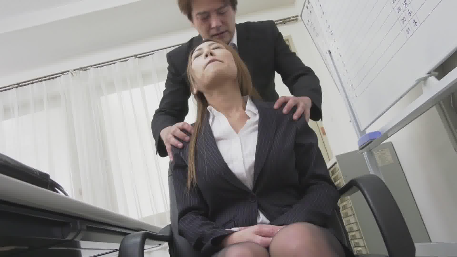 美人痴女上司とオフィスで二人きり - 北山かんな【痴女・OL・中出し】