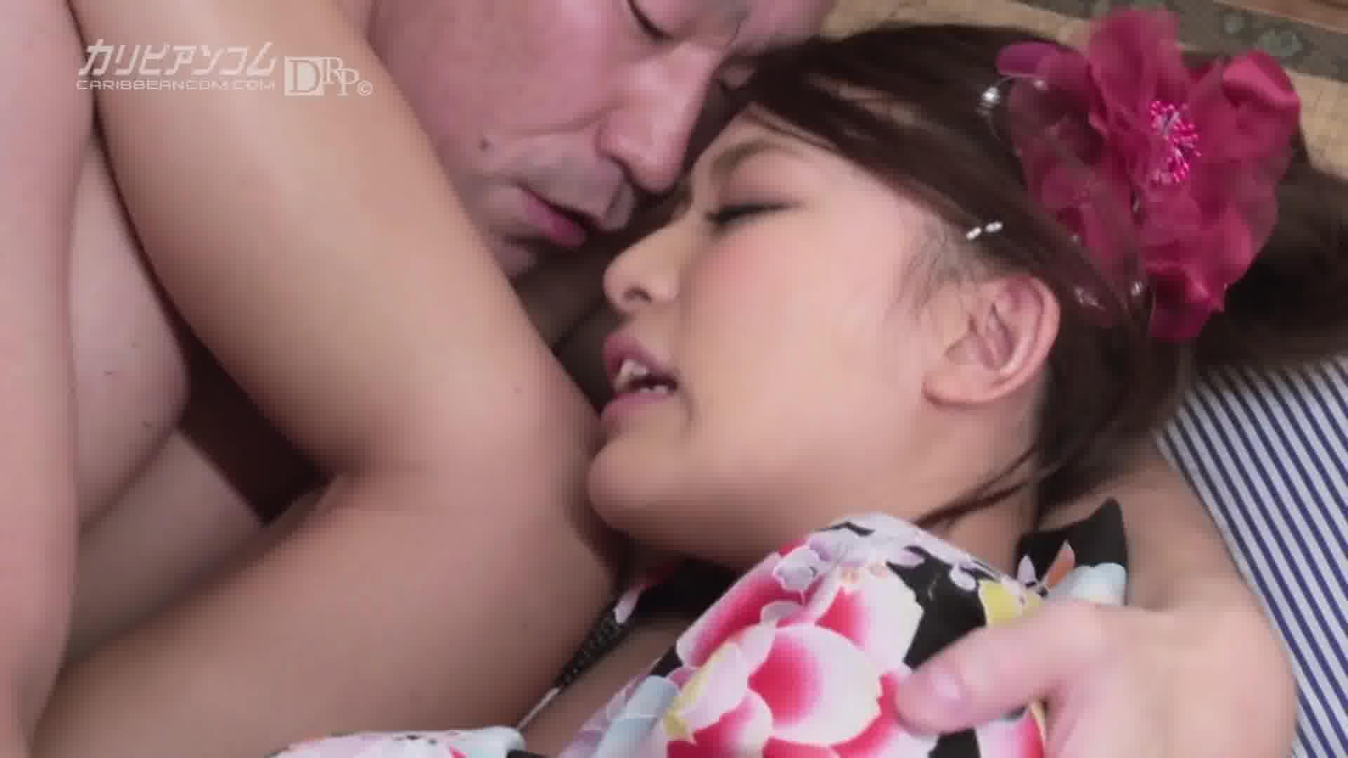 人妻不倫温泉 - 水野葵【浴衣・パイパン・初裏】
