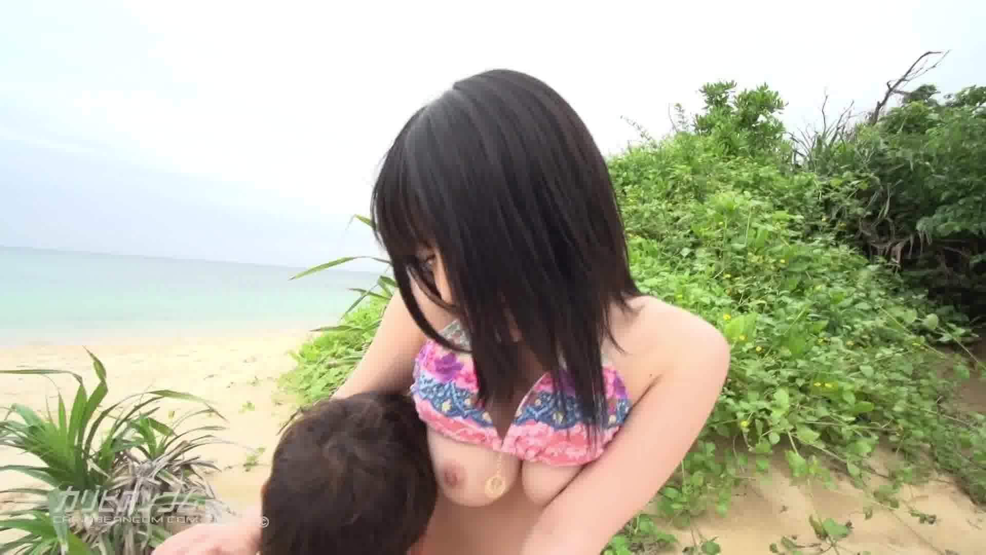 南の島でつかまえて 前編 - みなみ愛梨【巨乳・青姦・初裏】