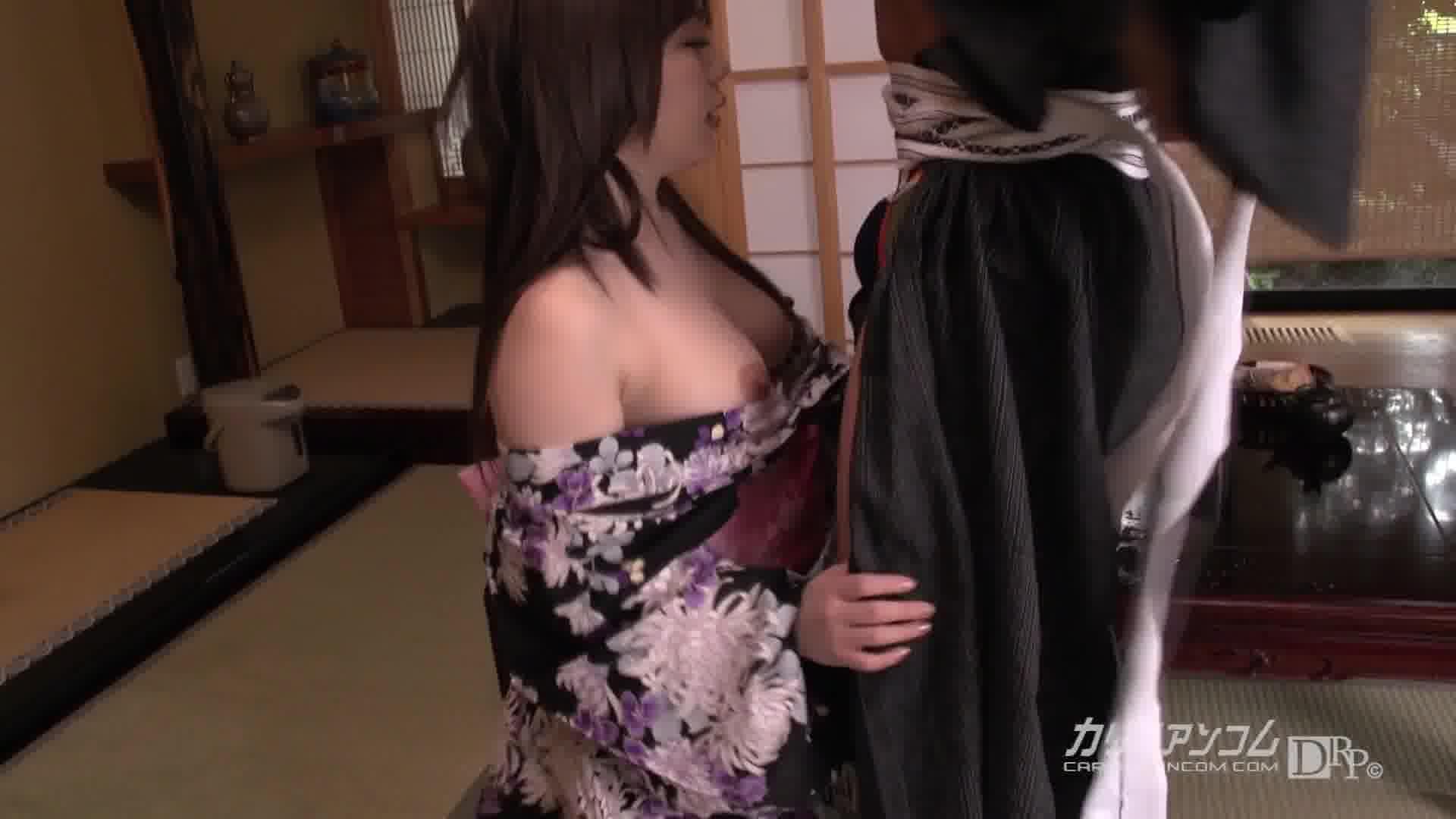 お忍び温泉デート - 櫻木梨乃【巨乳・浴衣・初裏】