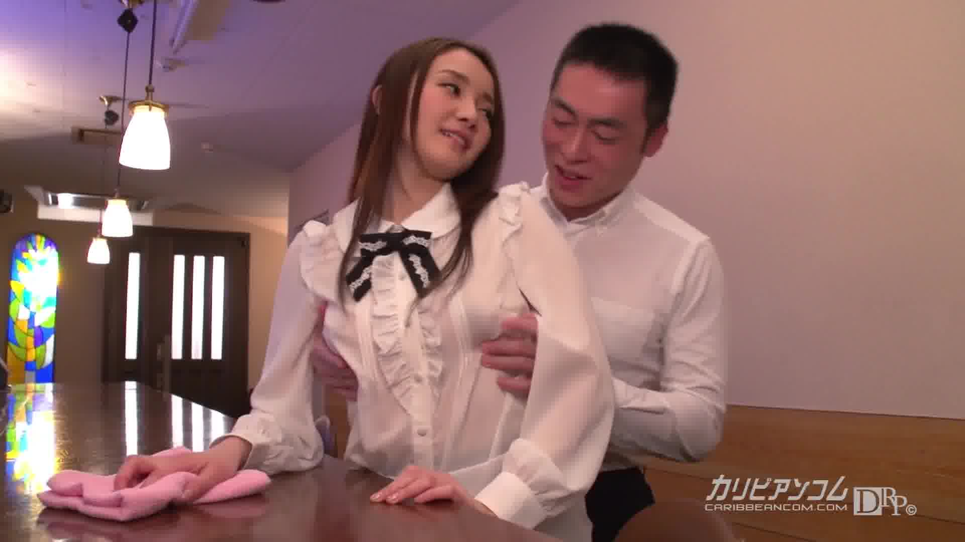 胸ポチウェイトレス - 立花美涼【美乳・潮吹き・エプロン】